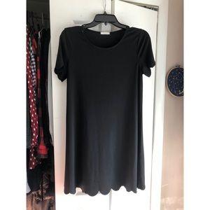 Scallop T-Shirt Dress